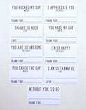 Mini THANKFUL Notes - Set of 9