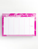 Very Awesome Week - WEEKLY DESKPAD