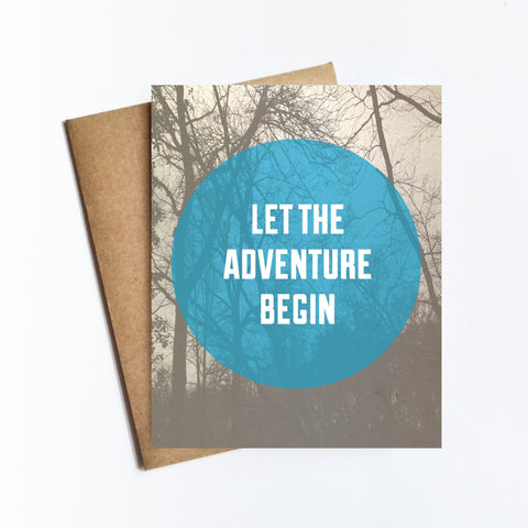 Adventure Begin - NOTECARD
