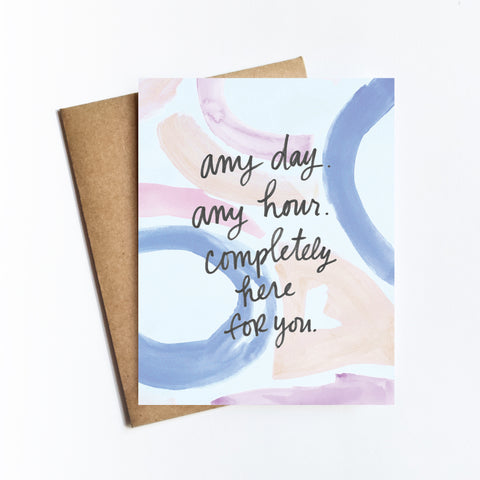 Any Day Any Hour - NOTECARD