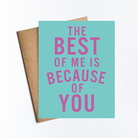 Best Of Me - NOTECARD