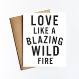 Blazing Wild Fire - NOTECARD
