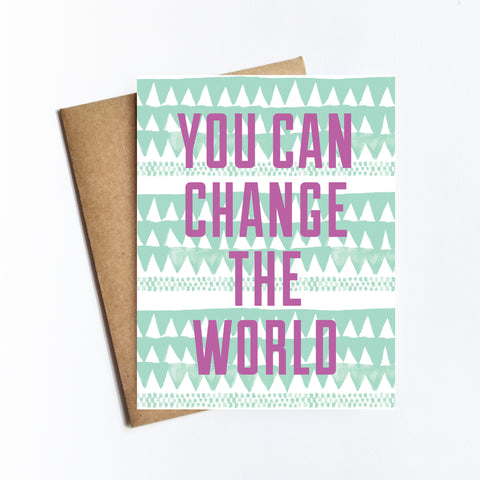 Change The World - NOTECARD