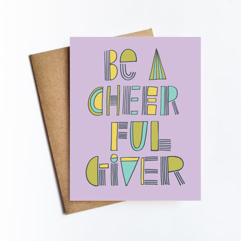 Cheerful Giver - Notecard