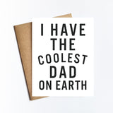Coolest Dad On Earth - NOTECARD