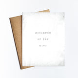 Daughter Of The King - NOTECARD