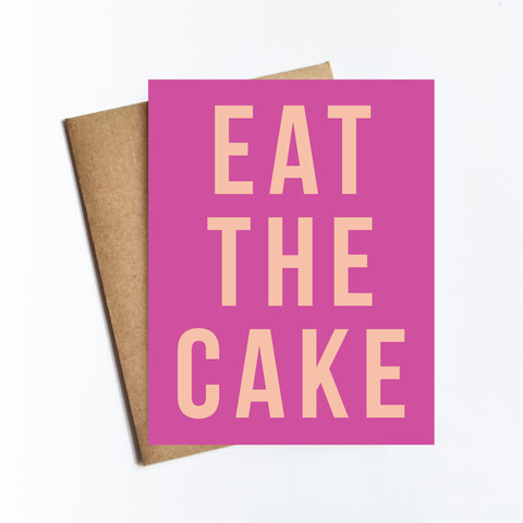Eat The Cake - NOTECARD