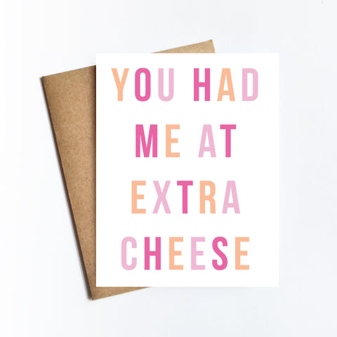 Extra Cheese - NOTECARD