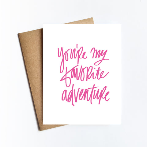 Favorite Adventure - NOTECARD