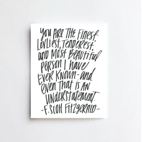 Fitzgerald Quote - ART PRINT