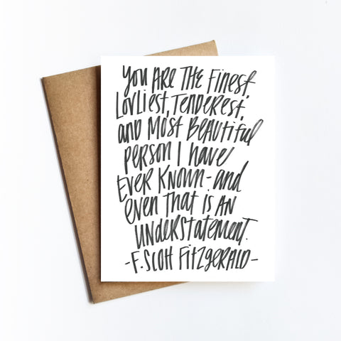 Fitzgerald Quote - NOTECARD