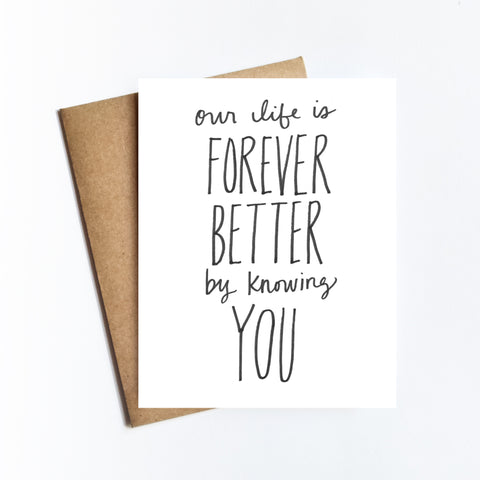 Forever Better - NOTECARD