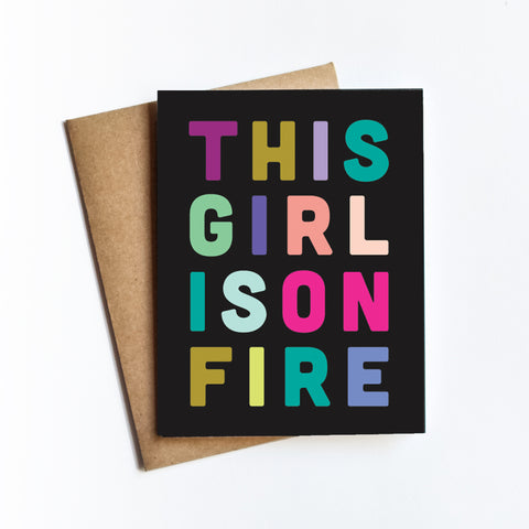 Girl On Fire - NOTECARD