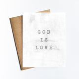 God Is Love - NOTECARD