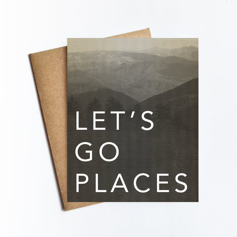 Go Places - NOTECARD