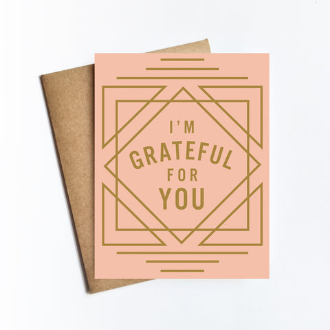 Grateful For You - NOTECARD