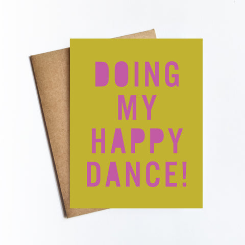 Happy Dance - NOTECARD