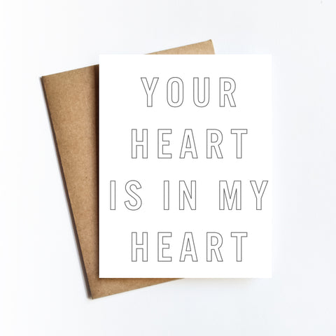 Heart In My Heart - NOTECARD