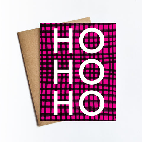 Ho Ho Ho - HOLIDAY NOTECARD