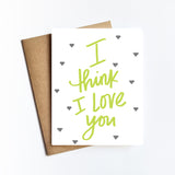 I Think I Love You - NOTECARD