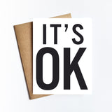 It's Ok - NOTECARD