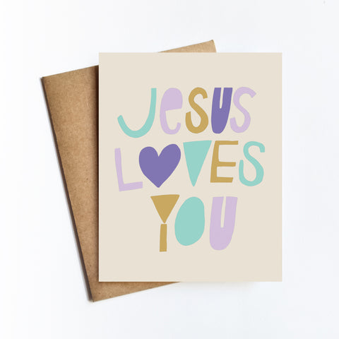 Jesus Loves You - NOTECARD
