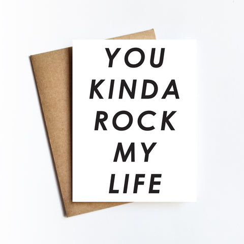 Kinda Rock My life - NOTECARD