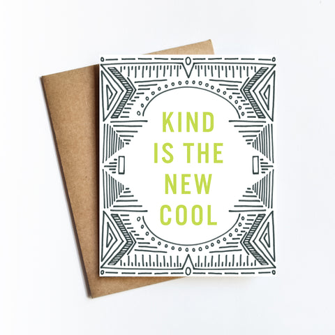 Kind Is The New Cool - NOTECARD