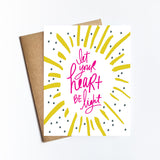 Let Your Heart Be Light - HOLIDAY NOTECARD