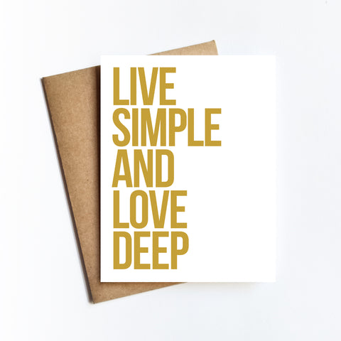 Live Simple - NOTECARD