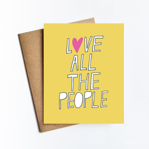 Love All The People - NOTECARD