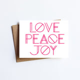 Love Peace Joy - HOLIDAY NOTECARD