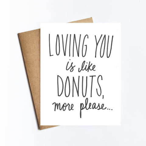 Loving You Like Donuts - NOTECARD