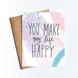 Make My Life Happy - NOTECARD