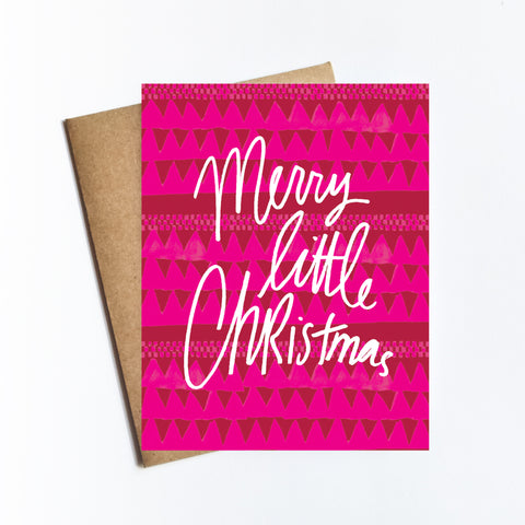 Merry Little Christmas - HOLIDAY NOTECARD