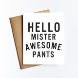 Mister Awesome Pants - NOTECARD