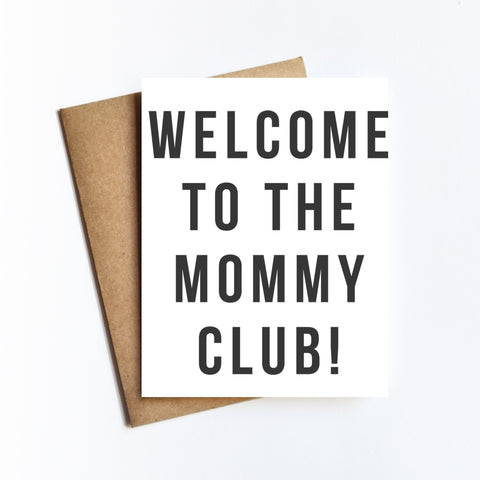 Mommy Club - NOTECARD