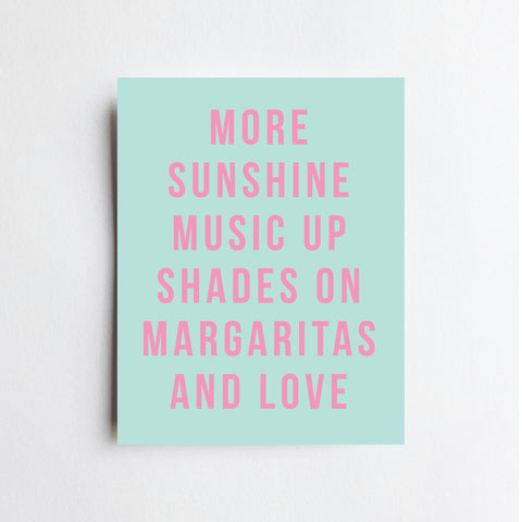 More Sunshine Music - ART PRINT