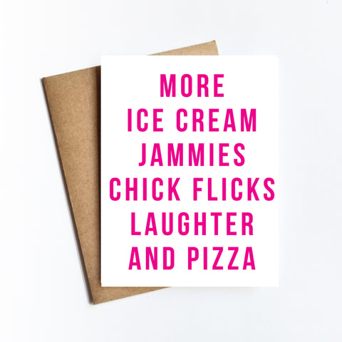 More Ice Cream Jammies - NOTECARD