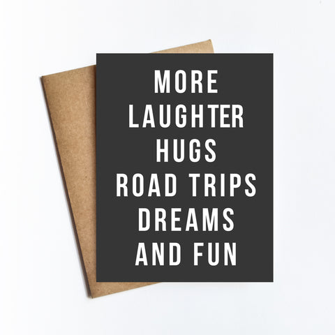 More Road Trips Dreams - NOTECARD
