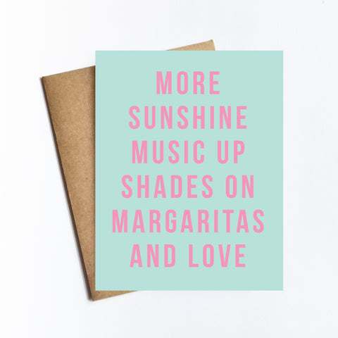 More Sunshine Music - NOTECARD