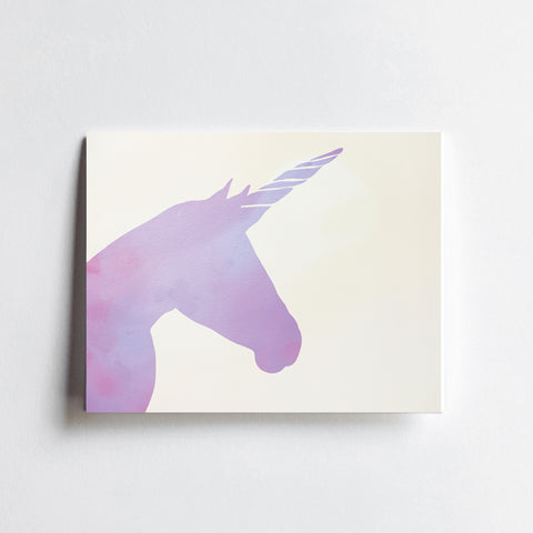 Purple Unicorn -  ART PRINT