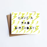 Rad Birthday- NOTECARD