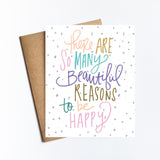 Reasons To Be Happy - NOTECARD