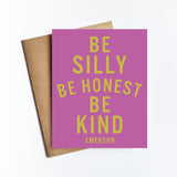 Silly Honest Kind - NOTECARD