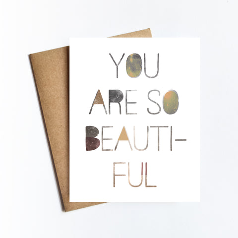 So Beautiful - NOTECARD