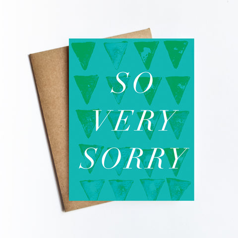 So Very Sorry - NOTECARD