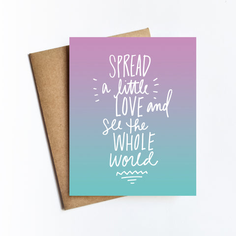 Spread A Little Love - NOTECARD