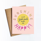 Sunshine Happy - NOTECARD