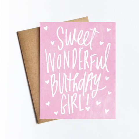 Sweet Birthday Girl - NOTECARD